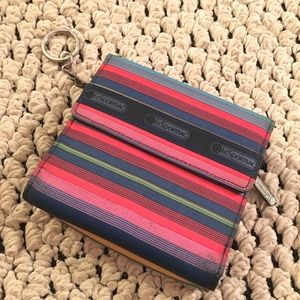 LeSportsac Trifold Wallet with Keychain